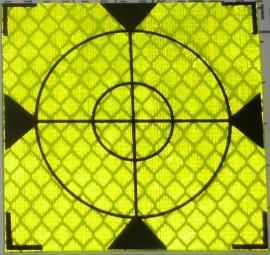 Reflective label 60mm x 60mm celadon
