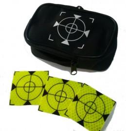 100 pcs. Reflective label 60mm x 60mm celadon + case