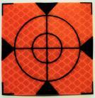 Reflective label 60mm x 60mm orange