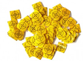 100 pcs. Reflective label 20mm x 20mm Yellow